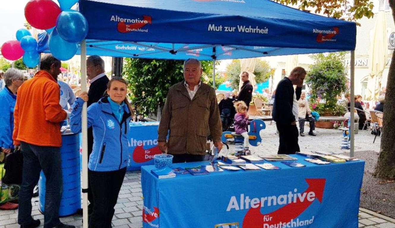 AfD Infostand Straubing