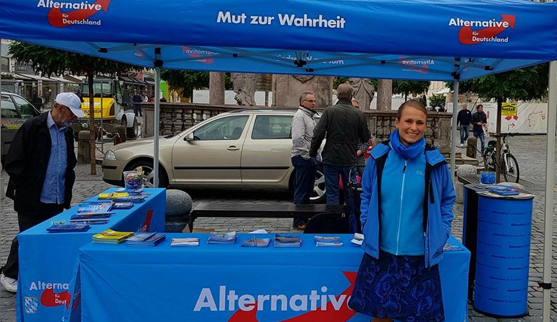 AfD Infostand in Straubing