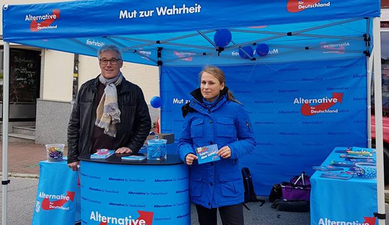 Infostand der AfD in Zwiesel