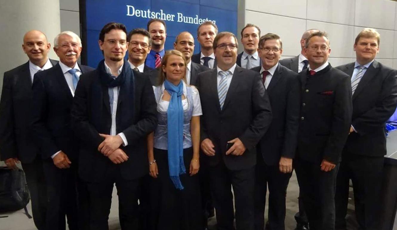 Bayrische Landesgruppe der AfD-Abgeordneten im Reichstagplenum