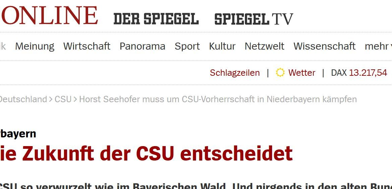 CSU-Alptraum, die zweite.