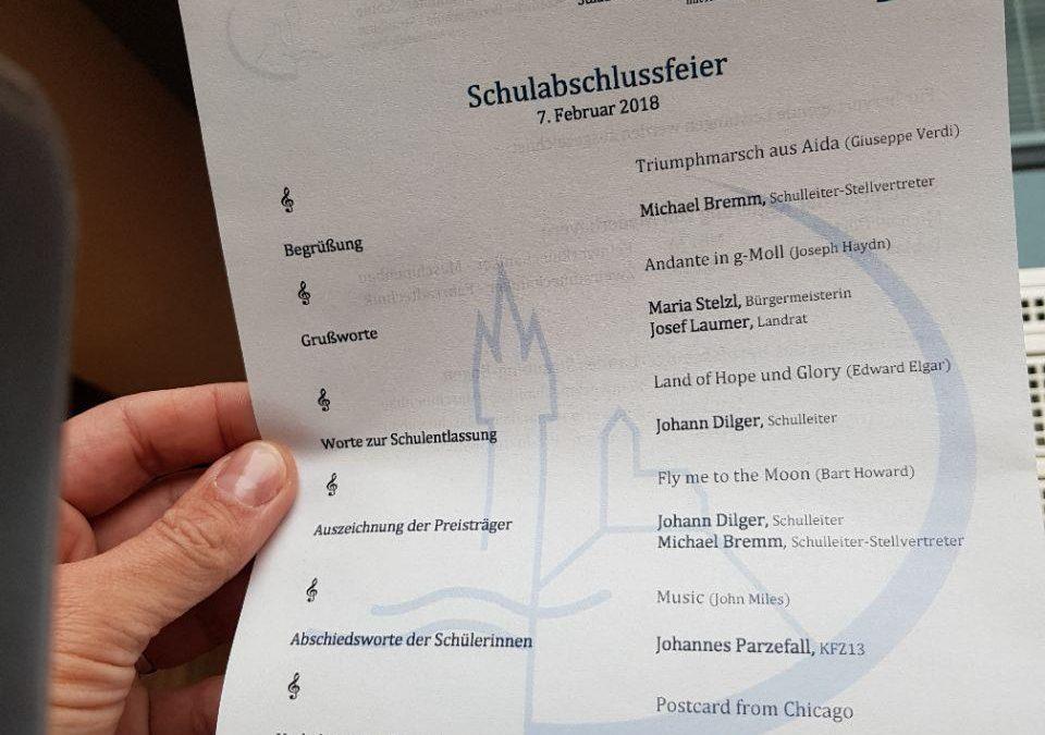 Abschlussfeier Joseph-von-Fraunhofer-Schule