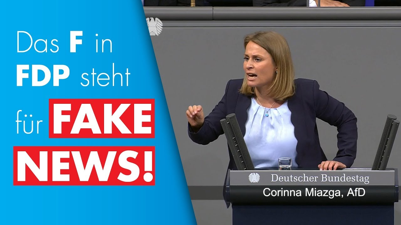 FDP will EU-Demokratie-Agentur gegen Desinformation - Corinna Miazga am 11.04.2019 im Bundestag