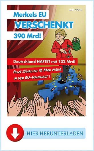 "Flyer ""Merkel verschenkt Gelder"""