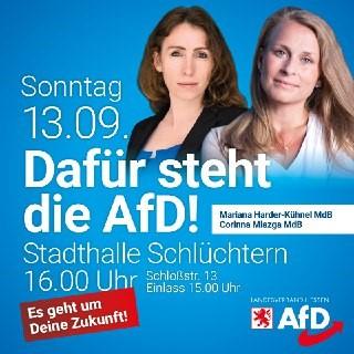 13. September 2020 Wahlkundgebung in Schlüchtern in Hessen