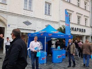 Infostand in Straubing mit Kraft