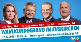Wahlkundgebung in Euskirchen
