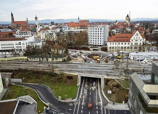 Verkehrsfreigabe des Jahnplatzes in Straubing