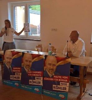 Wahlkampf in Chemnitz mit Nico Köhler