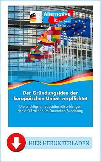 AfD - Der Gründungsidee der Europäischen Union verpflichtet