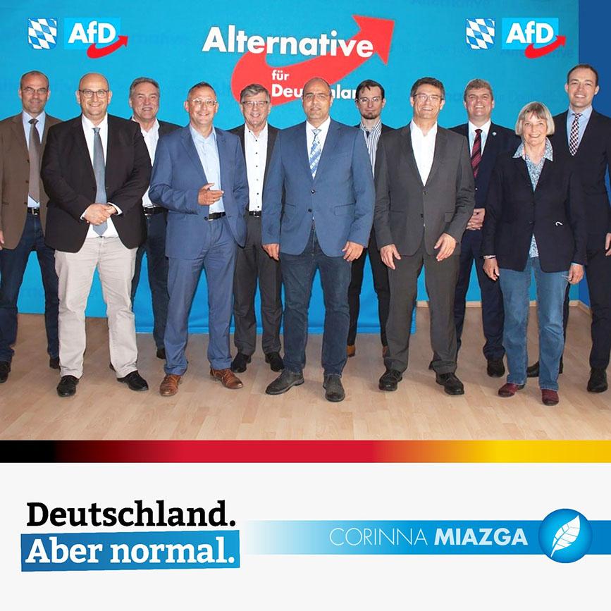 Bayerische AfD zieht mit 26 Listenkandidaten in die Bundestagswahl.