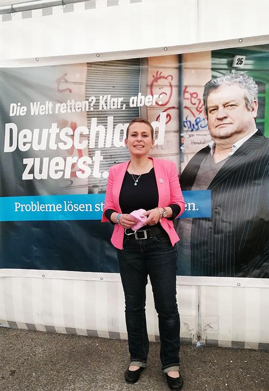 Corinna Miazga wurde bei der Aufstellungsversammlung des Landesverbands Bayern auf Platz 2 gewählt.