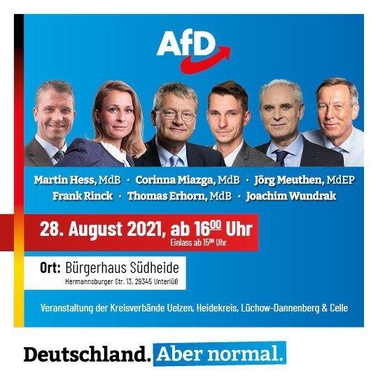 Veranstaltung der Kreisverbände Uelzen, Heidekreis, Lüchow-Dannenberg und Celle