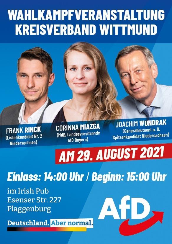 Wahlkampfveranstaltung des Kreisverbandes Wittmund