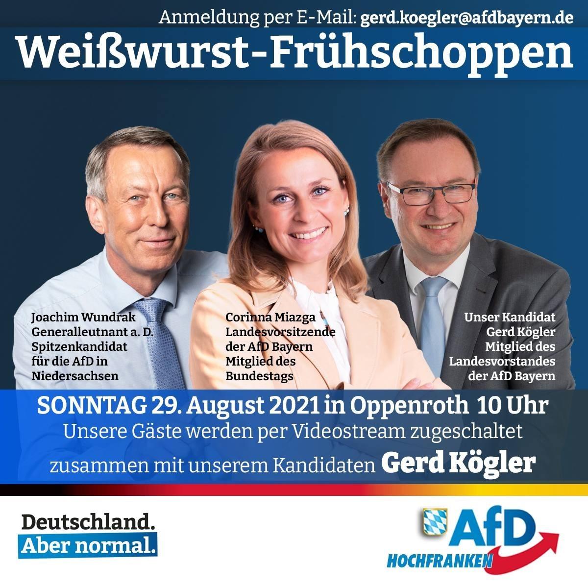 29. August 2021 - Weißwurst-Frühschoppen in Oppenroth