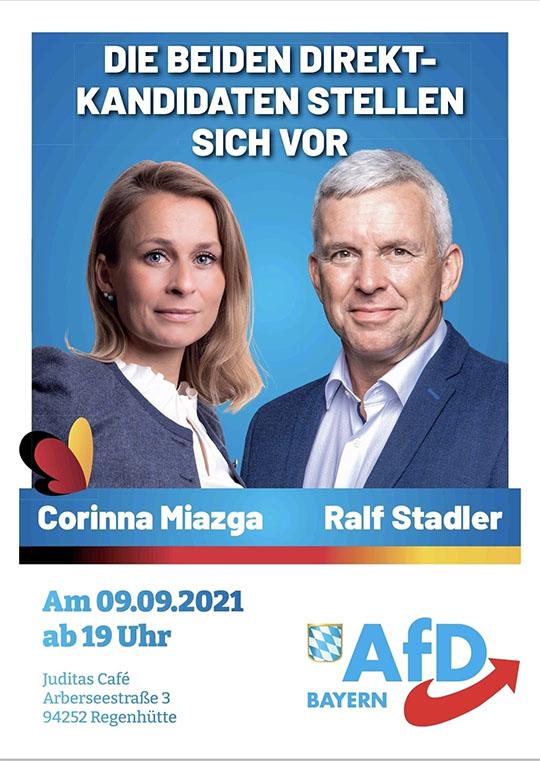 Politischer Abend mit Corinna Miazga und Ralf Stadler